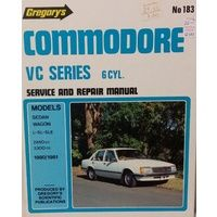 Holden Commodore VC 6 Cylinder Workshop Repair Manual 1980-1981 with MPN GR183