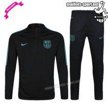 Ensemble De Survetement Homme Foot FC Barcelone Noir/Vert 2016 2017 Nouveau | maillots-sport