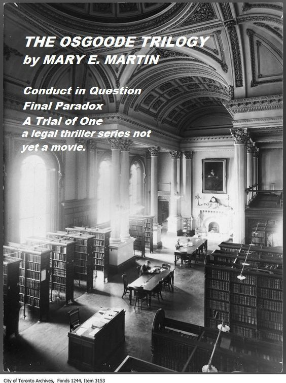 I practised law for many years in Toronto and so have many memories of this beautiful building. Those years were the inspiration for writing THE OSGOODE TRILOGY. iN FINAL PARADOX, Archie Brinks was shot in open court in Osgoode Hall. Fortunately, my practice was far more sedate than Harry Jenkins, the protagonist. Mary E. Martin. http://www.amazon.com/author/maryemartin https://www.pinterest.com/search/pins/?q=osgoode%20hall&rs=rs&0=osgoode%7Crecentsearch%7C1&1=hall%7Crecentsearch%7C1