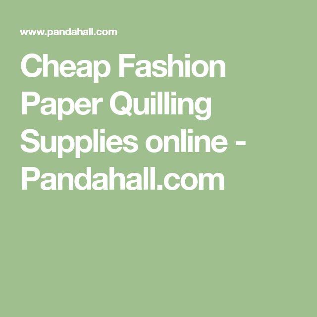Cheap Fashion Paper Quilling Supplies online - Pandahall.com