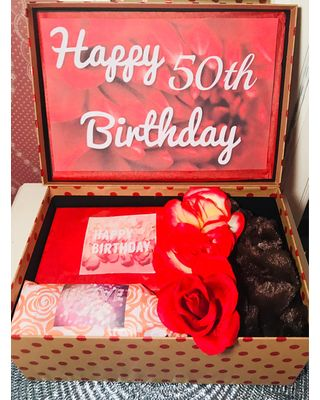 Prices On Happy 50th Birthday Youarebeautifulbox Girl Gift For Wife Mom Basket