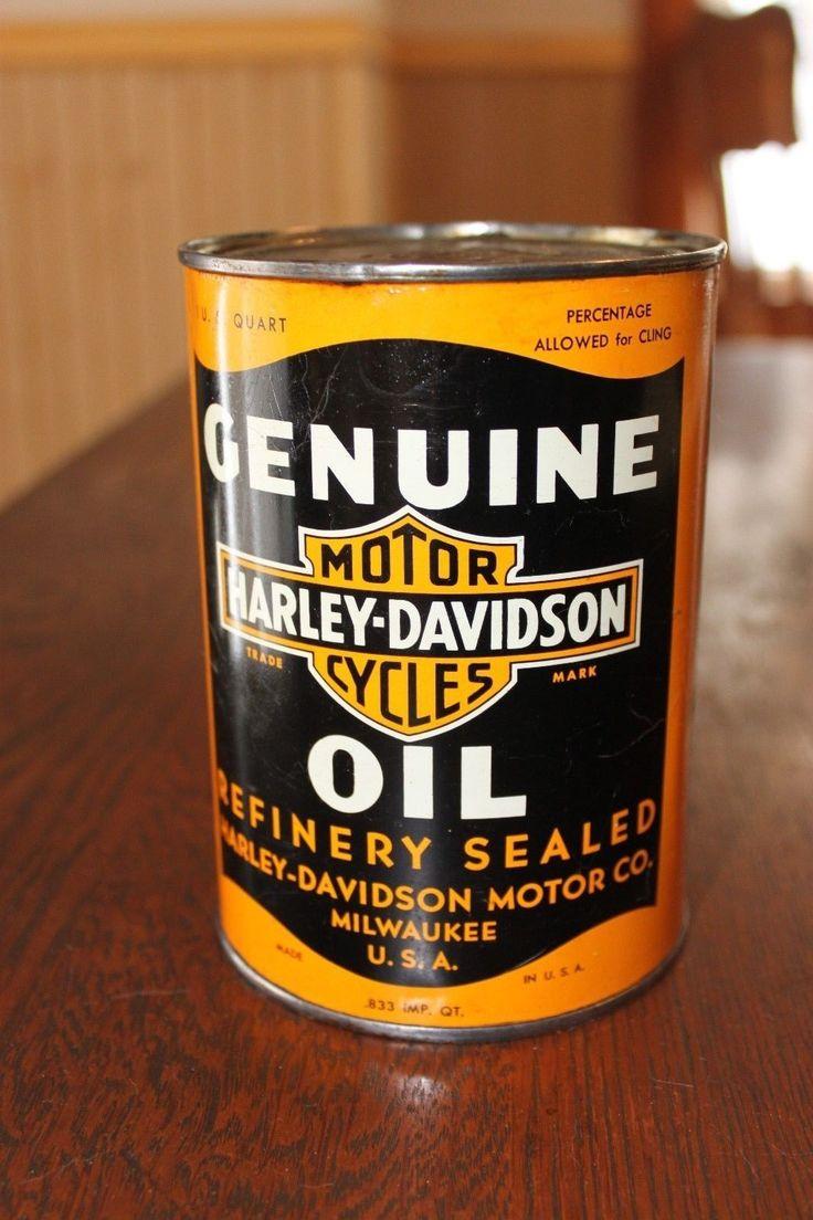 #Harley Great 1940's Harley Davidson oil can. please retweet