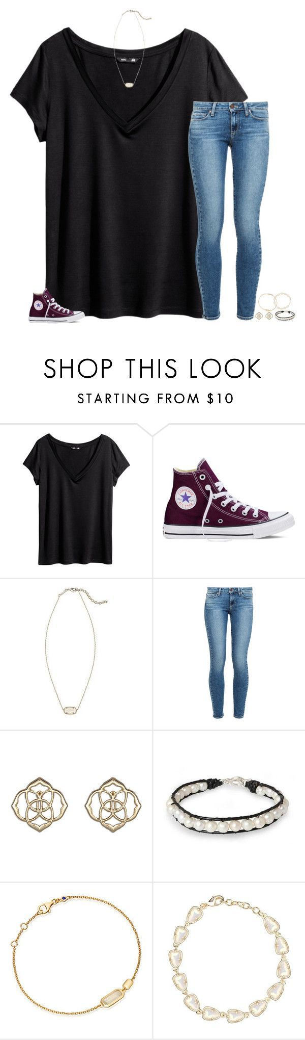 """"""""""" by secfashion13 ❤ liked on Polyvore featuring H&M, Converse, Kendra Scott, Paige Denim, NOVICA and Astley Clarke"""