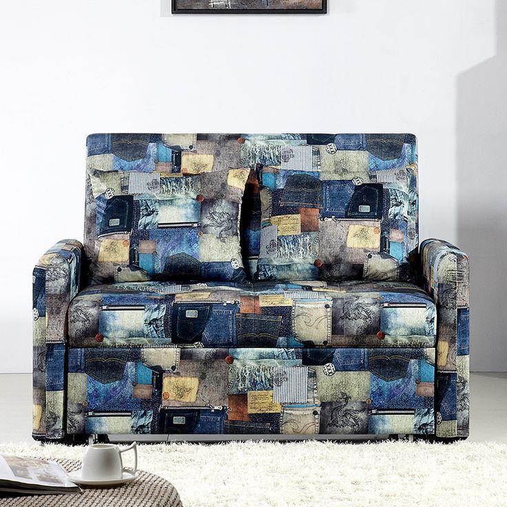 Темный диван с рисунком в разных цветах с раскладным механизмом https://lafred.ru/catalog/catalog/detail/44558801209/