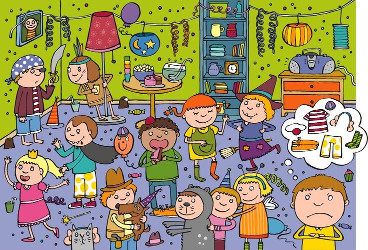 Fiesta de cumple (by una ilustradora alemana cuyo nombre es Anja Boretzki) - ¿Cuántos chicos? ¿Cuántas chicas? ...