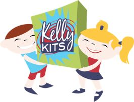 Kelly Kits encourage art play using a wide variety of creative tools & materials beyond what coloring books can offer.
