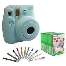 Fujifilm Instax Mini 8 Camera Blue Instant Fuji Polaroid Photo + 50 Film Pen