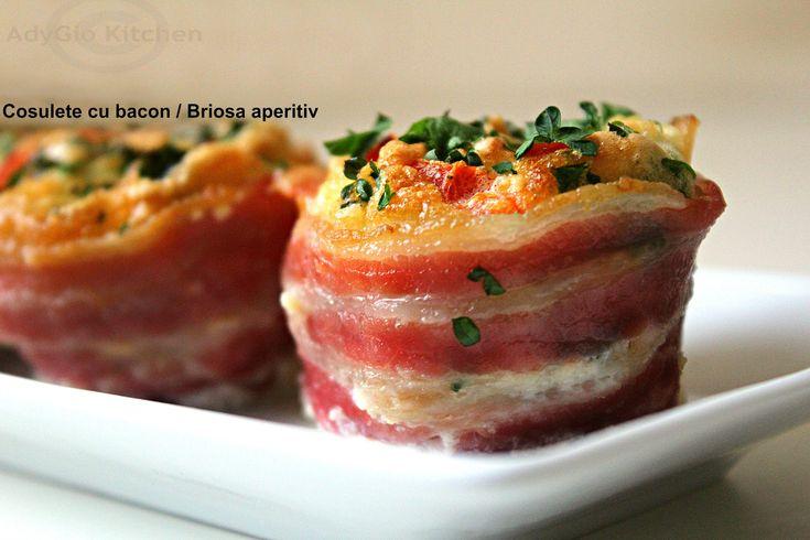 Reteta Cosulete cu bacon-briosa aperitiv Adygio Kitchen