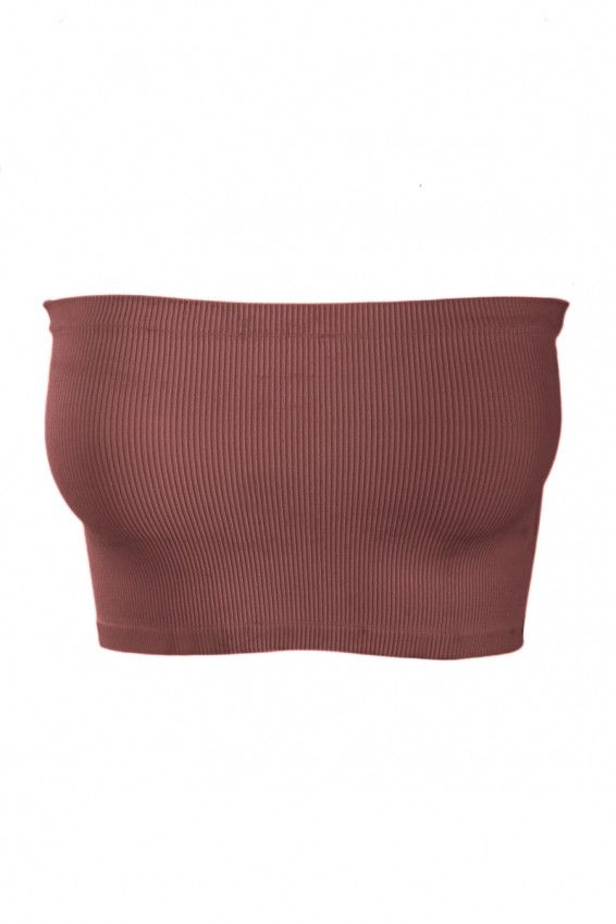 Rib Tube Top Introducing a crop tube top in a ribbed material. It's the perfect layering piece to wear under kaftan blouses and shirts with large armholes. Made from super soft blend of nylon and span