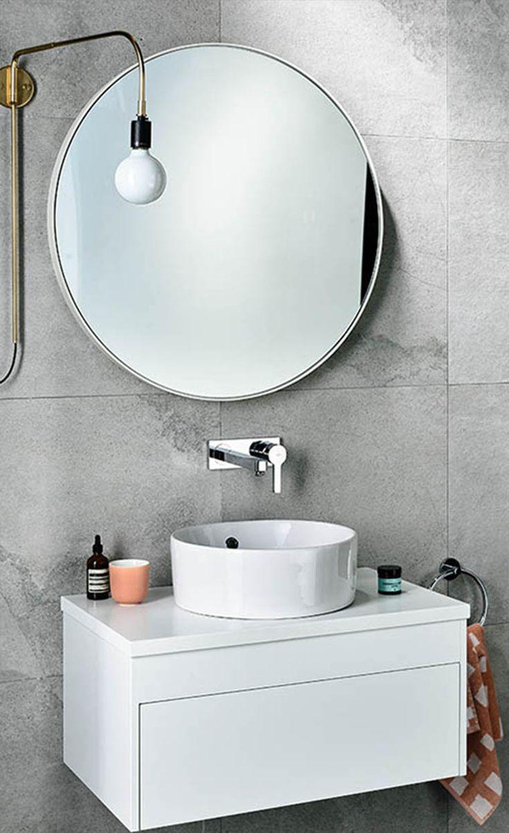modern bathroom fountain valley reviews%0A Bathroom   Wall hung vanity with wall mounted basin bath mixer