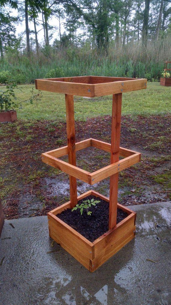 Jardinière en cèdre avec cage 2' 29 par SawickiGardens sur Etsy