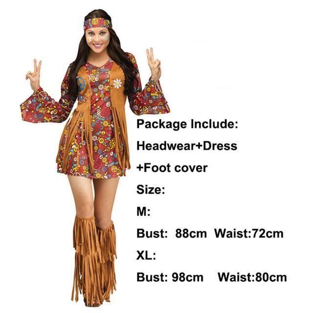 Karnival 1960//1970/'s Tye Dye Dress Costume
