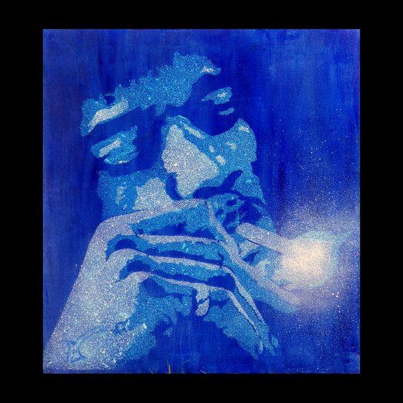 Hendrix smoking stencil