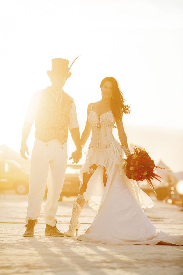 Epic Burning Man wedding_MichelleAndDamien  #creative