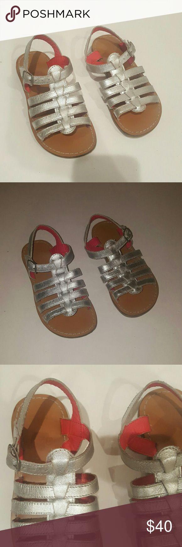 MINI BODEN shoes toddler size 28 MINI BODEN KIDS METALLIAC SILVER SANDALS SIZR 28 EUC Mini Boden Shoes Sandals & Flip Flops