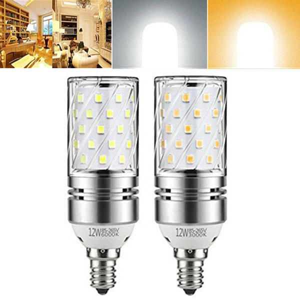 Us 3 99 E12 12w Warm White Pure White Led Candle Light Bulb 100w Incandescent Equivalent Ac85 265v Led Light Bulbs From Lights Lighting On Banggood Com
