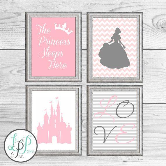 Princess Girl's Room Decor Princess Nursery Print by LilPeasPrints