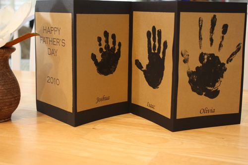 3 Last Minute Hand Print Crafts for Father's Day - Sidetracked Sarah: Card Idea, Father'S Day Gifts, Craft, Gift Ideas, Fathersday, Fathers Day Cards, Kid