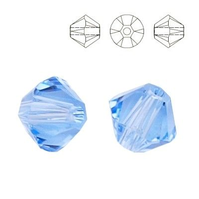 5328 Bicone 6mm Light Sapphire 10 pieces  Dimensions: 6,0mm Colour: Light Sapphire 1 package = 10 pieces