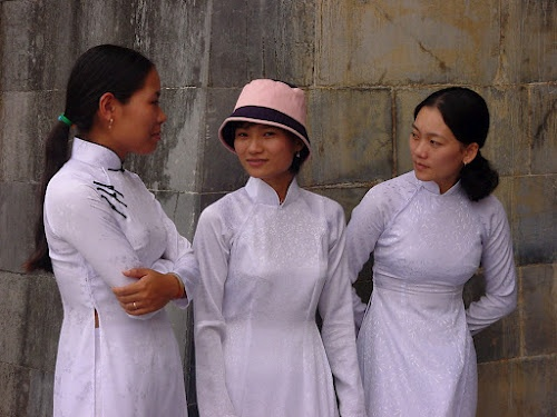 School Girls at the Citadel - Hue, Vietnam.