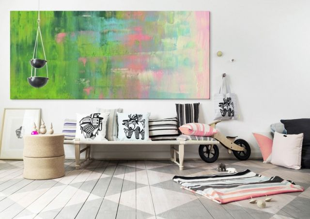 PRINTEMPS 2 [59855-36] - $199.50   United Artworks   Original art for interior design, buy original paintings online