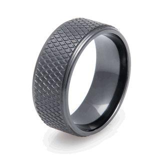 Men S Black Zirconium Hockey Puck Ring In 2018 Someday Soon