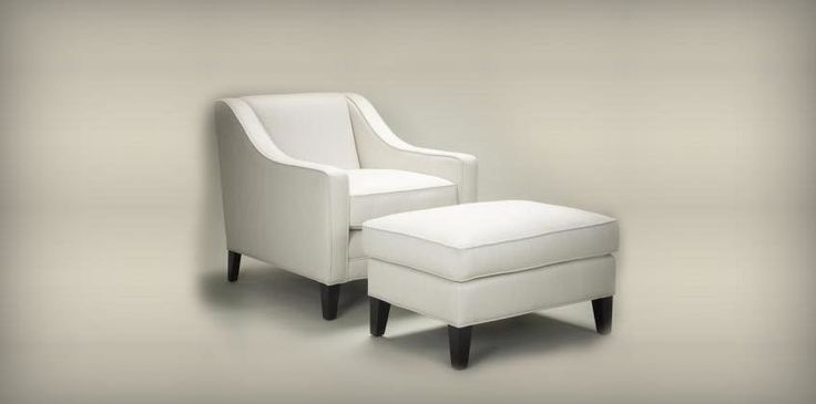 The image of gorgeous occasional chair and stool with solid beech legs. #FurnitureKent#FurnitureLondon