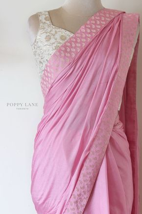 Pink saree poppy lane Toronto