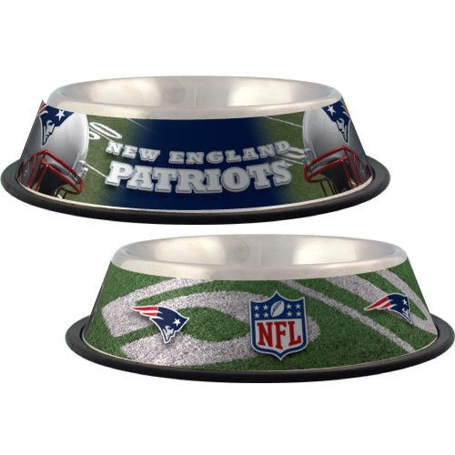 New England Patriots Stainless Steel NFL Licensed Dog Bowl  https://www.pinterest.com/welovenflgame/