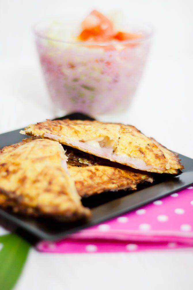 Low Carb Sandwich mit Blumenkohl-Käse-Kruste – Low Carb Köstlichkeiten