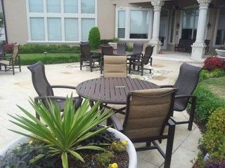 lakeside padded sling aluminum outdoor furniture by tropitone furniture