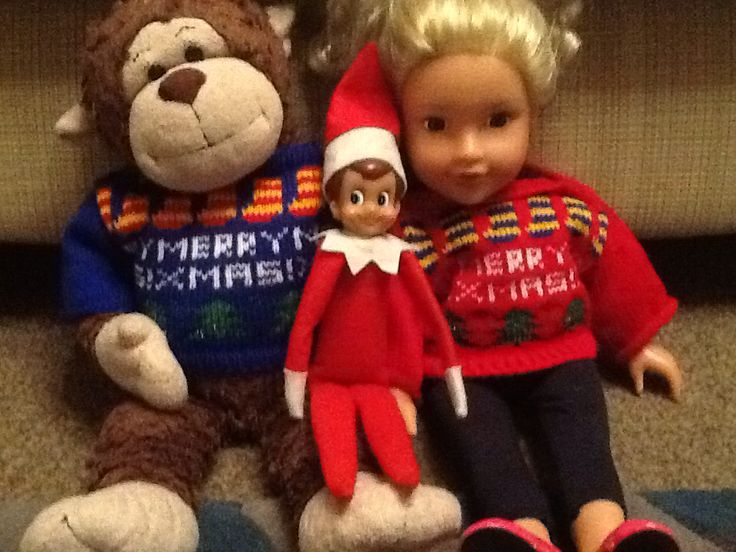 Bounce brought Sarah and monkey new christmas jumpers as well as new christmas shirts for schools xmas lunch. X