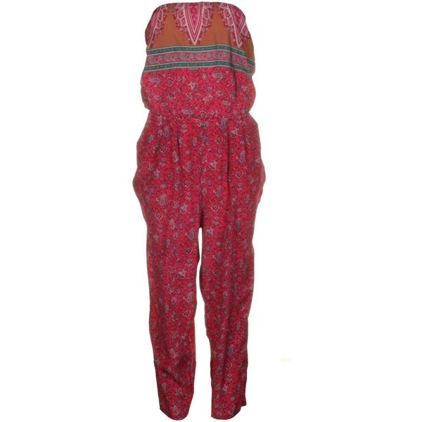 Tibi Womens Paisley Parasio Tuli Multi Pik Jumpsuit ($215) ❤ liked on Polyvore