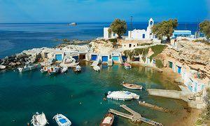 Fishing port and village of Mandrakia, Milos, Greece