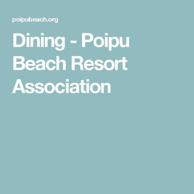 Dining - Poipu Beach Resort Association