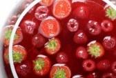 Bol de cóctel con frutos rojos  stock photography