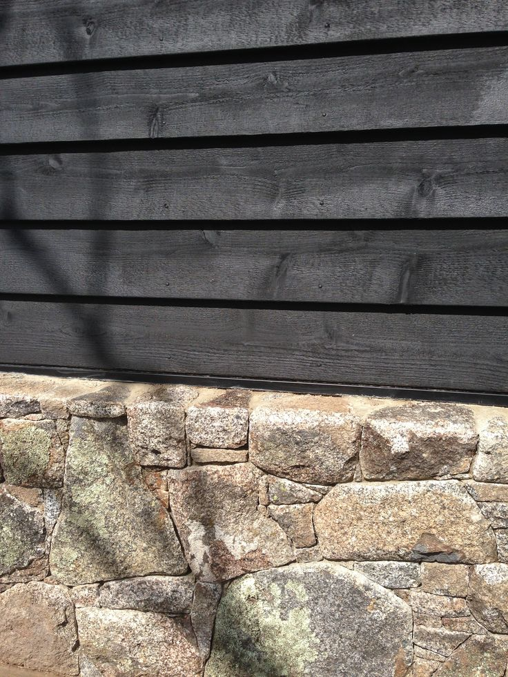 Timber cladding and stone (from our own property)