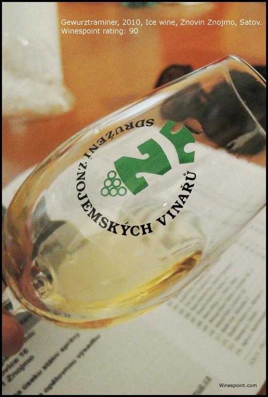 #Tramin Cerveny (Gewurztraminer), 2010, ledove vino (ice wine) from #Znovin Znojmo, Satov. Winespoint rating (03/2013): 90