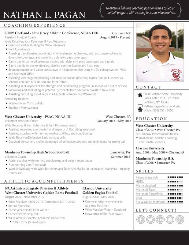 11 best Keep it Profess images on Pinterest Resume templates, Cv - athletic resume template