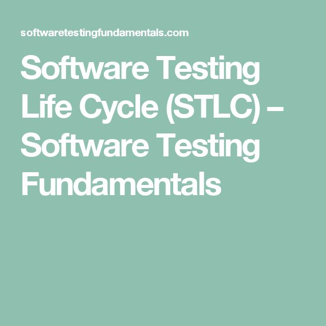 Software Testing Life Cycle (STLC) – Software Testing Fundamentals