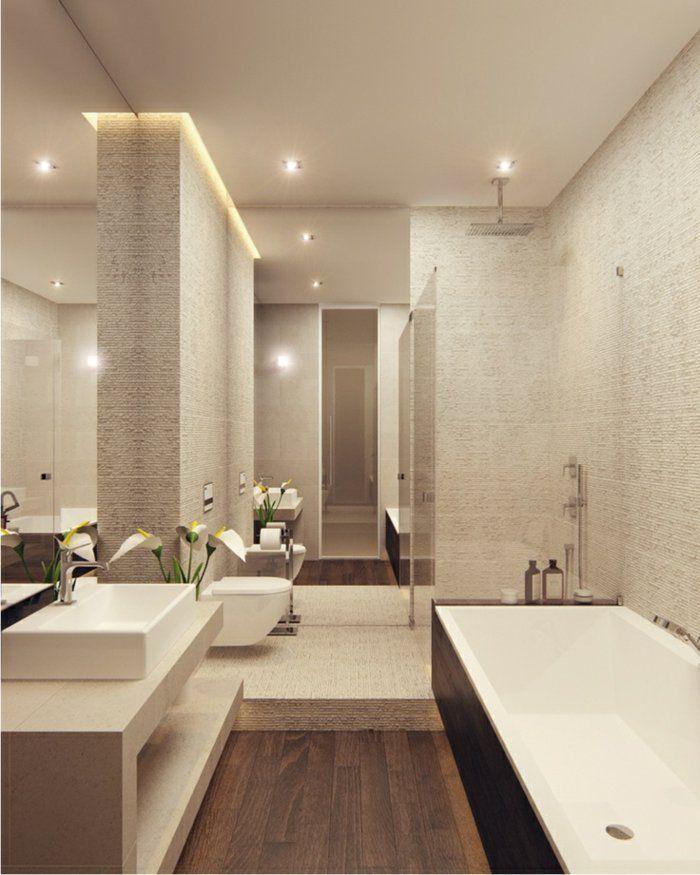 faience salle de bain leroy merlin beige et fleurs blanches - Salle De Bain Taupe
