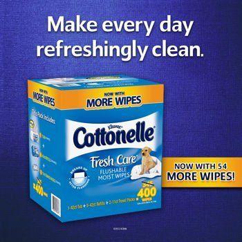 Cottonelle Fresh Care Flushable Cleansing Cloths, 400 Cloths | Multi City Health  List Price: $34.99 Discount: $21.01 Sale Price: $13.98