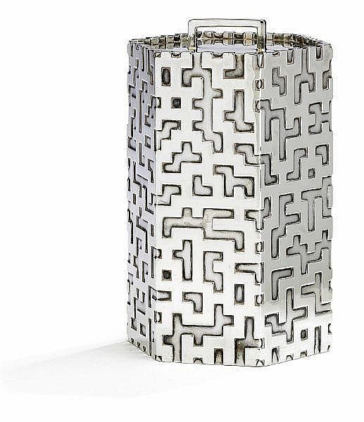 Buy online, view images and see past prices for Kay Fisker: Silver tea canister, enchased with stylized geometric pattern in relief. Weight 648 gr. H. 16 cm.. Invaluable is the world's largest marketplace for art, antiques, and collectibles.
