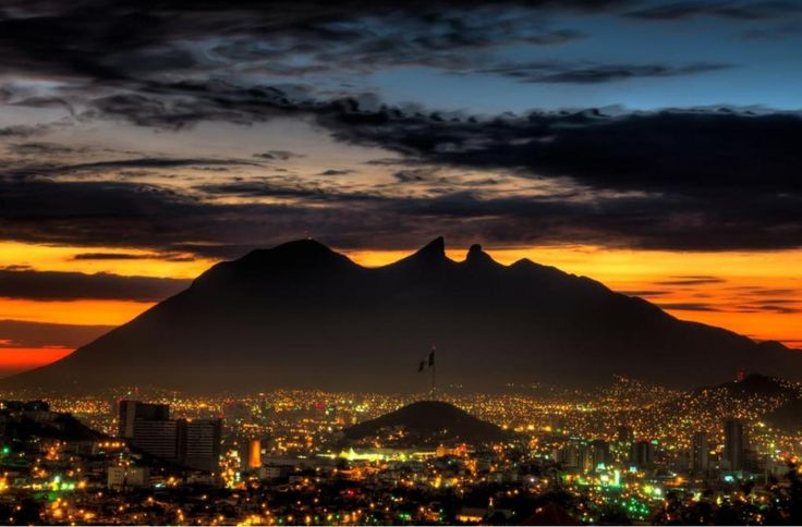Sunset in Monterrey, Nuevo Leon, Mexico..  Visit us on Facebook:  https://www.facebook.com/groups/imagesfromallovertheworld