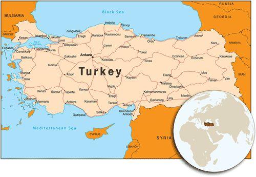 pin turkey map on - photo #46