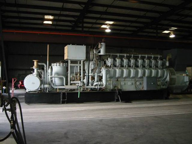 Alco Diesel Engine Generator Set 2500 KW Model 251F16GS at 1200 RPM CW Rotation Beloit Power System-USA Synchoronous Generator S/N 504767r2 Type Tbgzfj Frame V-23 Kva 3125 Duty Cont Phase 3 Hertz 60 Volts 12,470  Air Intake System  Jacket Water System Lube Oil System, Less Iping, Valves And #2 Diesel Fuel Oil Storage Tanks Exhaust System  Cooling Water System Radiator less piping from engine to radiator Call for Pricing Location: MI