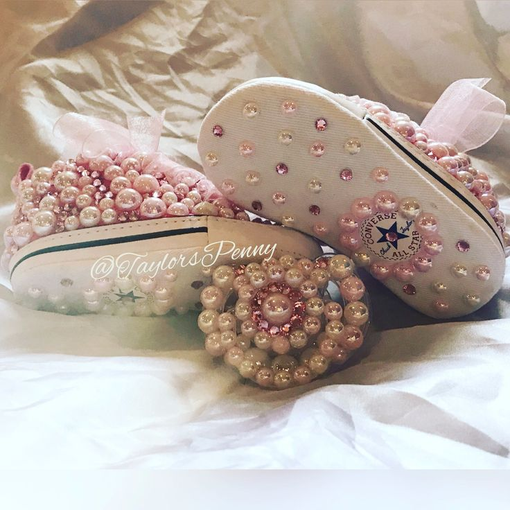 Baby Bling First Star Converse w/ Bling Pacifier (Pearls & Bling)