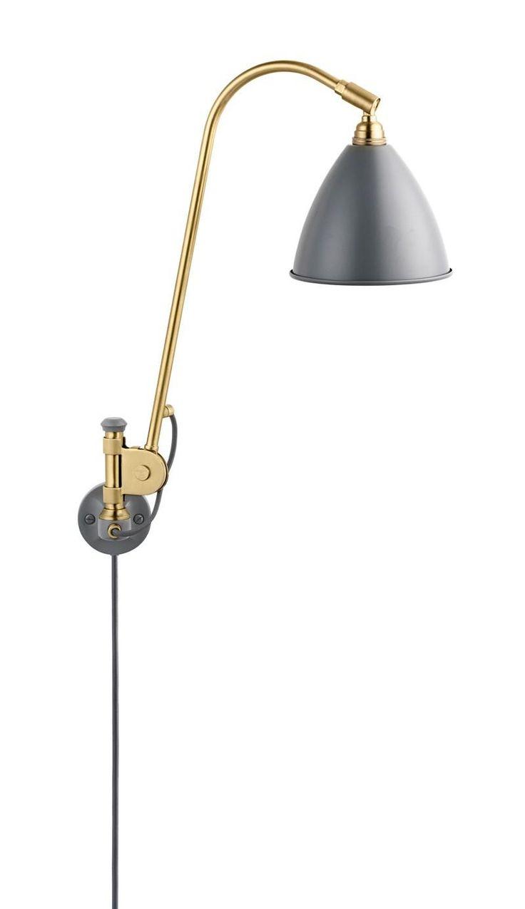 BestLite+-+BL6+Væglampe+-+Ø16+Messing+-+