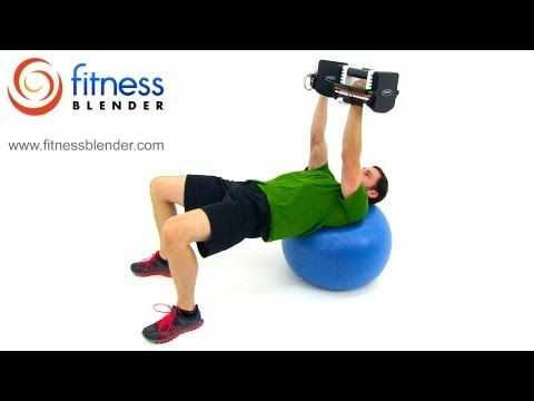 Quick Chest and Back Workout - Dumbbell Chest Workout at Home