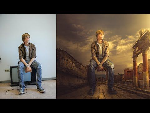 Photoshop CC Manipulation Photo Effects Tutorial | Change Background and blending - YouTube